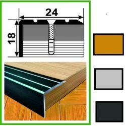Алюминиевый порожек лестничный - УЛ121 0,9м бронза