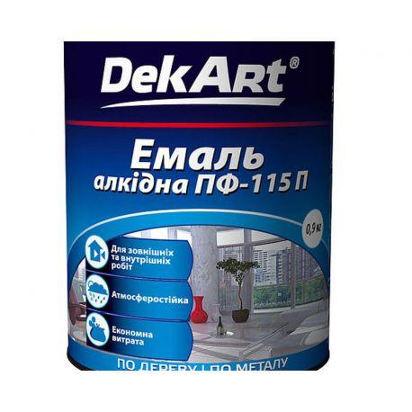 """Эмаль алкиднаяПФ-115 темно серая ТМ""""DekArt"""" - 0,9кг"""