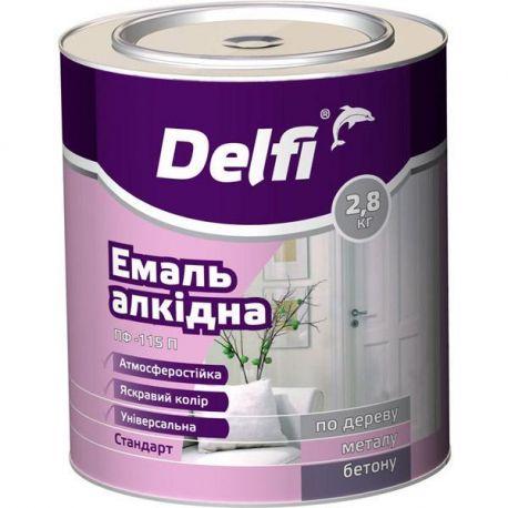 """Эмаль алкидн ПФ-115П салатовая ТМ""""DELFI"""" -2,8кг"""