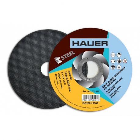 Диск шлифовальный по металу 125х6,0 Hauer