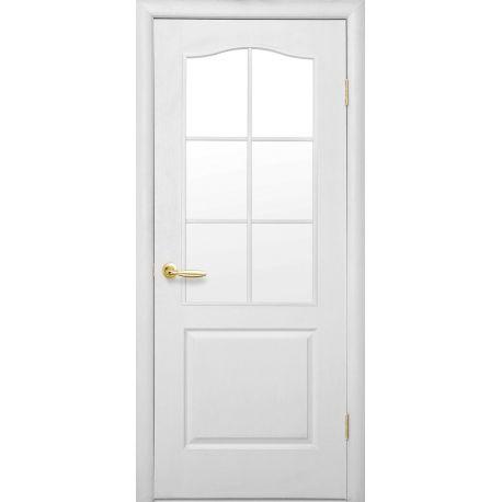 Дверное полотно МДФ Класик, полуостекл, 2000*600
