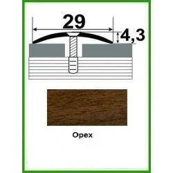 Алюминиевый порожек -004 Орех 0,9м