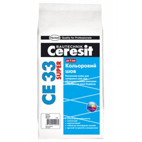 """Затирка """"Ceresit"""" СЕ 33 д/швов бежевая 2 кг"""
