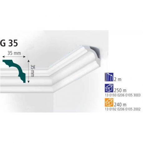 Плинтус экструдированный Vidella G-35 2м (125)