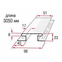 Планка соединительная белая 3,05 м