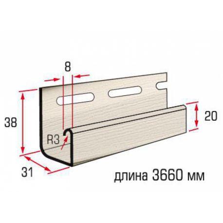Планка J-trim бежевая 3,66 м