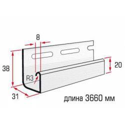 Планка J-trim белая 3,66 м
