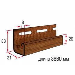 Планка J-trim дуб светлый 3,66 м