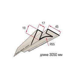 Планка угол внутренний бежевый 3,05 м