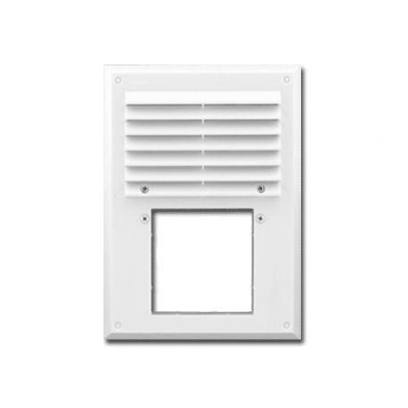 Вентиляционная решетка Мини Макс с фланцем 240х180мм, D90мм