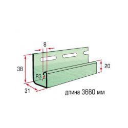 Планка J-trim оливковый 3,66 м