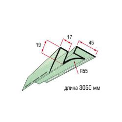 Планка угол внутренний оливковый 3,05 м