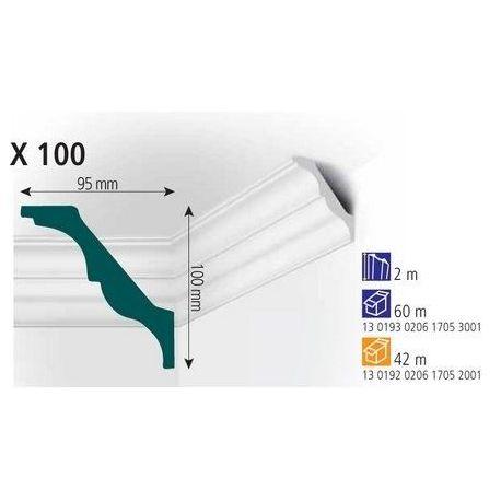 Плинтус потолочный Vidella  X-100 2м (30)