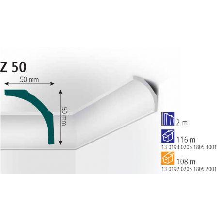 Плинтус потолочный Vidella  Z-50 2м