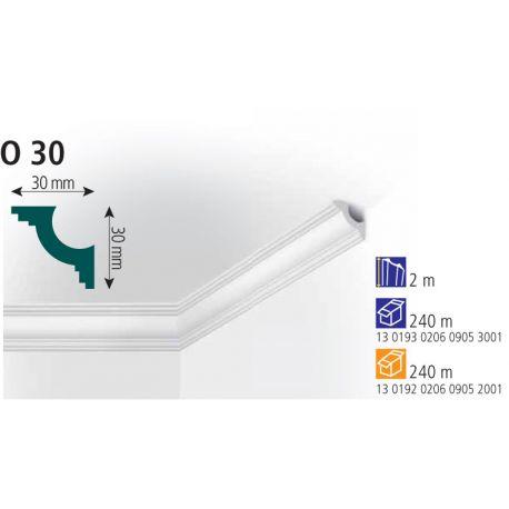Плинтус потолочный Vidella O-30 2м (120)