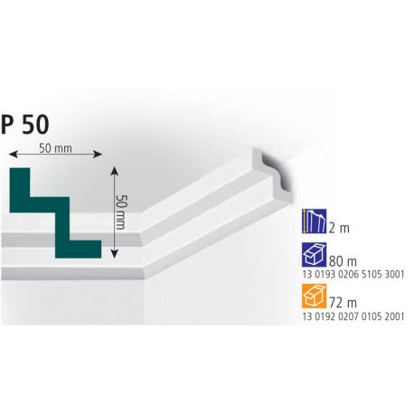 Плинтус потолочный Vidella Р-50 2м