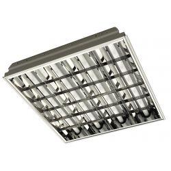 Светильник растовый встраиваемый  4х18w (дросель)