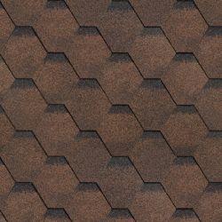 Финская черепица коричневый (Шинглас) пачка 3м2