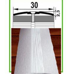 Алюминиевый порожек -006 серебро   0,9 м
