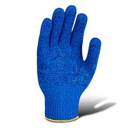 Перчатки рабочие синие с синей точкой ПВХ