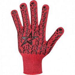 Перчатки рабочие Червоный с черной звездой ПВХ