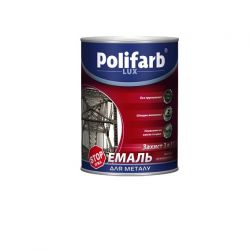Polifarb 3в1 крастно коричн   0,9 RAL 8012