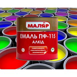 Эмаль ПФ-115 Маляр черная (0,8кг)