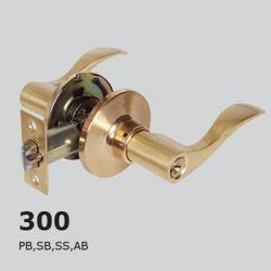 Ручька-защелка фикс 300-BK--PB латунь  LEX