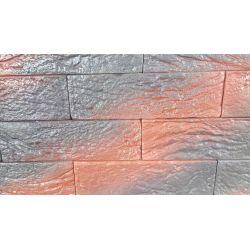 """Гипсовая плитка """"ПАРИЖ"""" без шва цветная №2  (20,5*6 см, толщина 10 мм,58 шт,  0,71 м2)"""