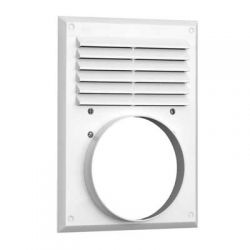 Вентиляционная решетка с фланцем 240х180, D120мм