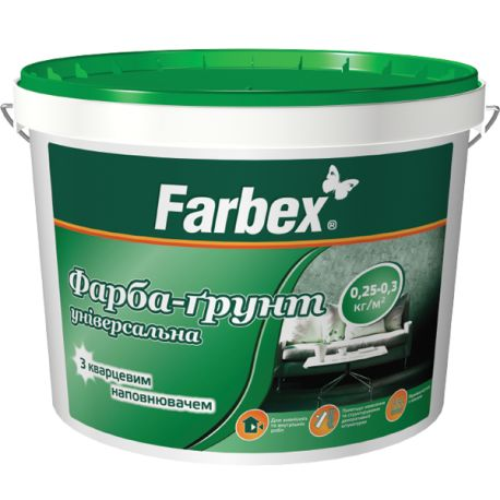 Грунтующая краска Farbex с кварцем 3л/4,2кг