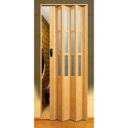 Двери гармошка SYMFONIA дуб стекло